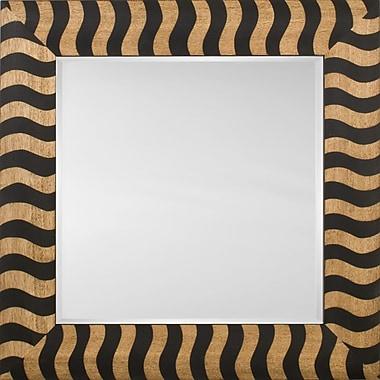 Mirror Image Home Mirror Style 81146 - Black Wood Stripe; 36.5 x 46.5