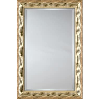 Mirror Image Home Mirror Style 81154 - Gold Wave; 29.25 x 41.25
