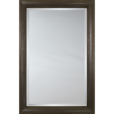 Mirror Image Home Mirror Style 81155 - Espresso Embossed Wave; 28.25 x 40.25