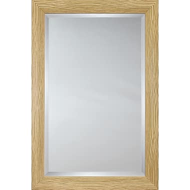 Mirror Image Home Mirror Style 81157 - Ivory Embossed Wave; 34.25 x 44.25