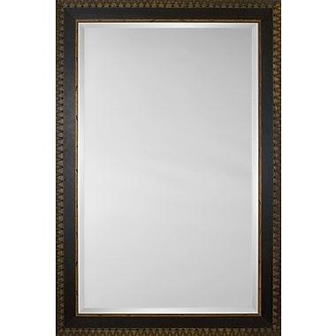 Mirror Image Home Mirror Style 81169 - Espresso / Walnut w/ Embossed Stitch; 34.25 x 44.25