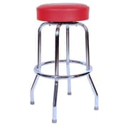 Richardson Seating Retro Home 30'' Swivel Bar Stool; Red