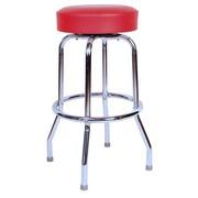 Richardson Seating Retro Home 24'' Swivel Bar Stool; Red
