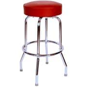 Richardson Seating Retro Home 24'' Swivel Bar Stool; Wine