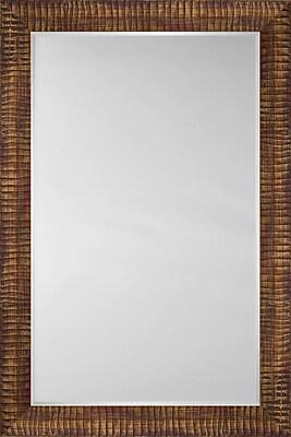Mirror Image Home Mirror Style 81173 - Walnut Caterpillar; 26.75'' H x 30.75'' W