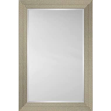 Mirror Image Home Mirror Style 81199 - Silver Dots; 29.25 x 41.25