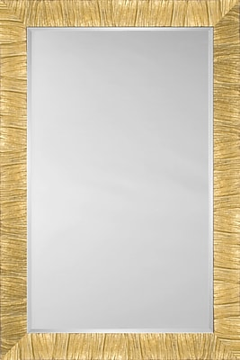 Mirror Image Home Mirror Style 81202 - Gold; 27'' H x 31'' W