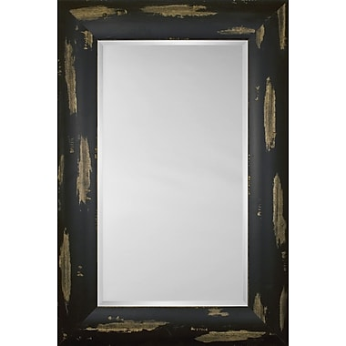 Mirror Image Home Mirror Style 81205 - Espresso w/ Distressed Finish; 48 x 68