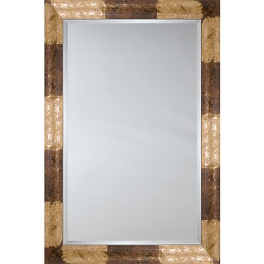 Mirror Image Home Mirror Style 81208 - Ivory and Chocolate Patches; 28.5 x 32.5