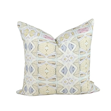 Bunglo Olive Throw Pillow; 24'' H x 24'' W