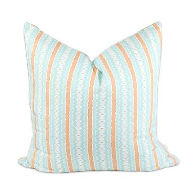 Bunglo Aqua Marine Throw Pillow; 20'' H x 20'' W