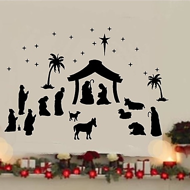 Enchantingly Elegant 36 Piece Nativity Vinyl Wall Decal Set
