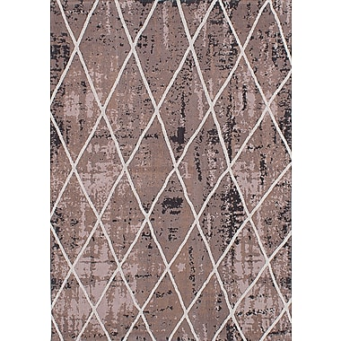 ECARPETGALLERY Enchanted Hand-Tufted Dark Ivory Area Rug
