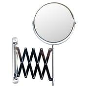 Wildon Home   Accordion Wall Mirror; Chrome