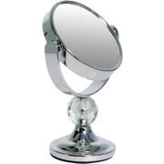Wildon Home   Mini Me Glamour Mirror w/ Acrylic Crystal Finial ; Chrome with Clear