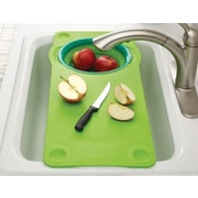 Squish Over the Sink Cutting Board w/ Collapsible Colander