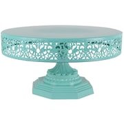 AmalfiDecor Isabelle Metal Cake Stand; Teal