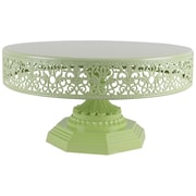AmalfiDecor Isabelle Metal Cake Stand; Lime Green