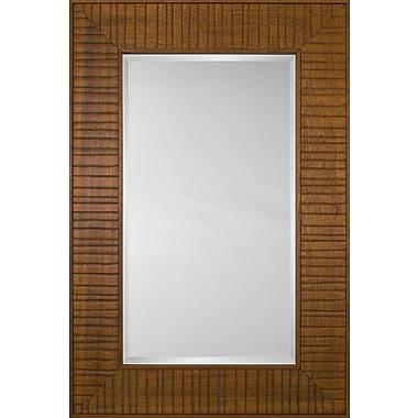 Mirror Image Home Mirror Style 80970 - Honey Wood Bridge; 30.75 x 34.75