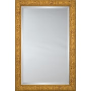 Mirror Image Home Mirror Style 80993 - Honey Bullnose Wood w/ Knots; 34 x 44