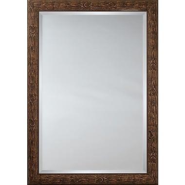 Mirror Image Home Mirror Style 80994 - Dark Brown Bullnose Wood w/ Knots; 28 x 40