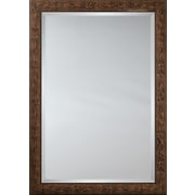 Mirror Image Home Mirror Style 80994 - Dark Brown Bullnose Wood w/ Knots; 34 x 44