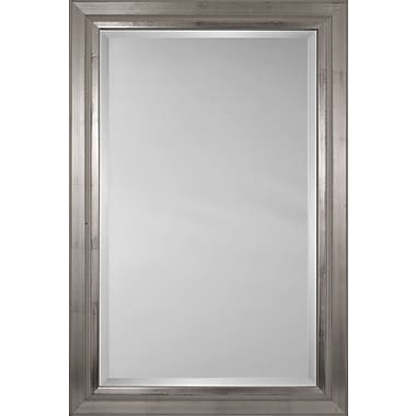 Mirror Image Home Mirror Style 81004 - Smooth Dull Silver Swan; 27 x 31
