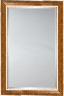 Mirror Image Home Mirror Style 81071 - Golden Reed w/ Natural Panels; 27'' H x 31'' W
