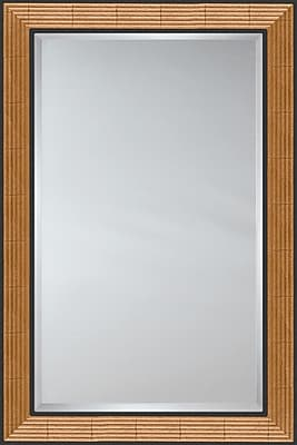 Mirror Image Home Mirror Style 81072 - Golden Reed w/ Black Panels; 29'' H x 41'' W
