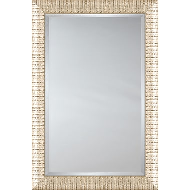 Mirror Image Home Mirror Style 81076 - Sloped Silver and Brown Pattern; 28.5 x 40.5