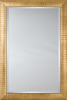 Mirror Image Home Mirror Style 81077 - Sloped Gold Pattern; 28.5'' H x 40.5'' W