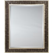 Mirror Image Home Mirror Style 81079 - Cocoa / Silver Shimmer Panel; 26.5 x 30.5