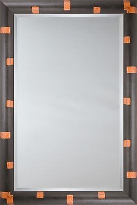 Mirror Image Home Mirror Style 81087 - Black Bullnose w/ Orange Detail; 28.25'' H x 40.25'' W