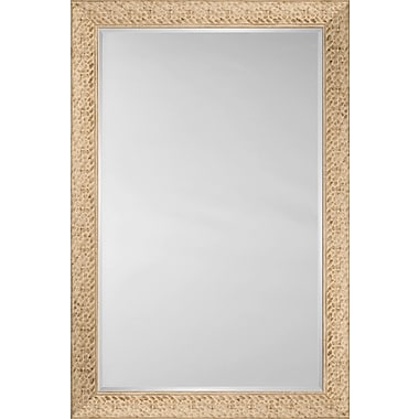 Mirror Image Home Mirror Style 81111 - Flat Face Embossed Ivory; 34.25 x 44.25