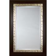 Mirror Image Home Mirror Style 81113 - Mahogany w/ Silver Maze Detail; 32 x 44