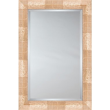 Mirror Image Home Mirror Style 81117 - Bullnose Mocha / Ivory Stripe And Mottle; 27.5 x 31.5