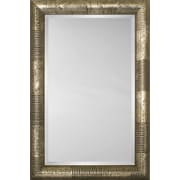Mirror Image Home Mirror Style 81118 - Bullnose Chocolate / Silver Stripe And Mottle