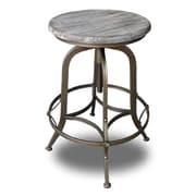Vandue Corporation Chester Adjustable Height Swivel Bar Stool (Set of 2); Copper