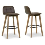 Glamour Home Decor 27.5'' Bar Stool (Set of 2)