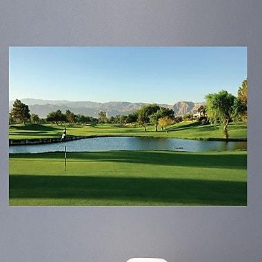 Wallhogs Palm Springs Golf Course Glossy Wall Mural; 24'' H x 36'' W x 0.1'' D
