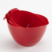 Linden Sweden 3 Piece Mixing Bowl Set; Red