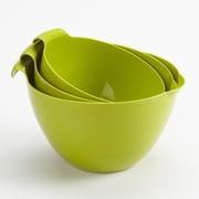 Linden Sweden 3 Piece Mixing Bowl Set; Apple green
