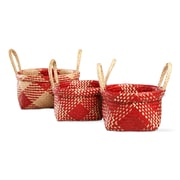TAG 3 Piece Christmas Alden Plaid Basket Set (Set of 3)