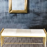 Fashion N You Leather Bedroom Bench; White
