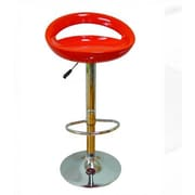 The Collection German Furniture Adjustable Height Bar Stool (Set of 2); Red