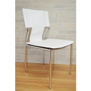 The Collection German Furniture Kubu Side Chair (Set of 4); White