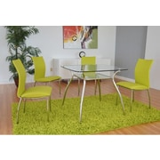 The Collection German Furniture Vogue Side Chair (Set of 4); Green