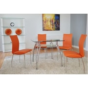 The Collection German Furniture Vogue Side Chair (Set of 4); Orange