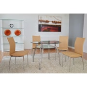 The Collection German Furniture Vogue Side Chair (Set of 4); Almond