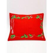 The Sandor Collection Holly Garland Pillow